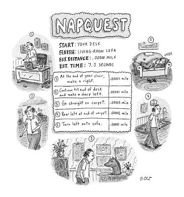 Model Drawing - Napquest by Roz Chast