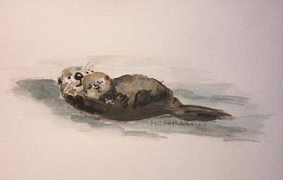 Naptime On The Water Original by Andrea Flint Lapins