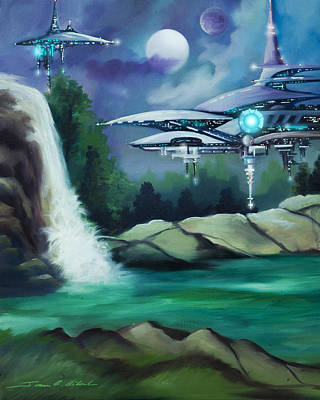 Stellar Painting - Narada City  by James Christopher Hill