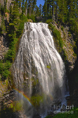 Mt Rainier Photograph - Narada Falls by Camille Lyver