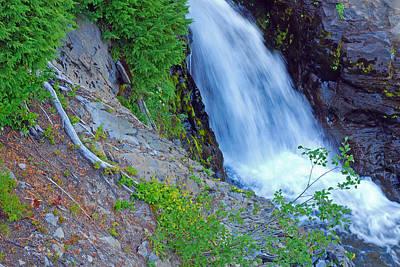 Photograph - Narada Falls - Mount Rainier National Park by Connie Fox