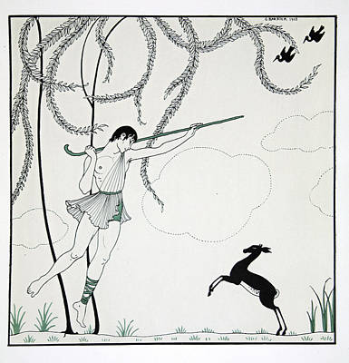 Talented Painting - Narcisse by Georges Barbier