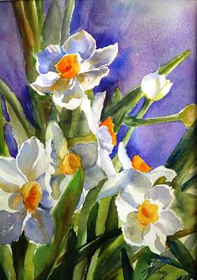 Narcissus Art Print by Betty M M   Wong
