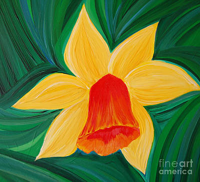 Daffodils Painting - Narcissus Diva By Jrr by First Star Art