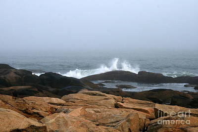 Photograph - Narragansett Sea Splash  by Neal Eslinger