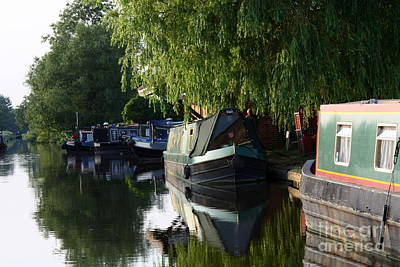 Photograph - Narrow Boats On The Canal by Jeremy Hayden