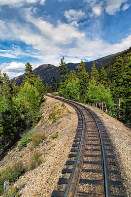 Photograph - Narrow Gauge Tracks In Silver Country by John M Bailey