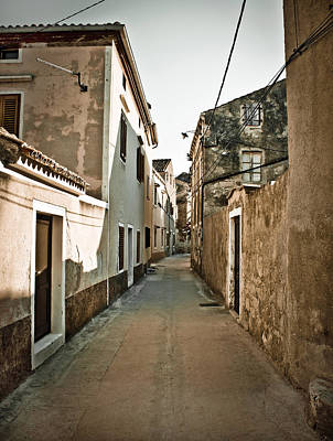 Photograph - Narrow Mediterranean Street In Dalmatia by Brch Photography