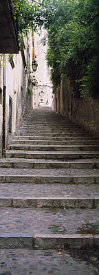 Girona Photograph - Narrow Staircase To A Street, Girona by Panoramic Images