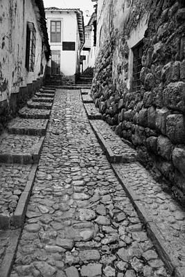 Narrow Street In Cusco Art Print