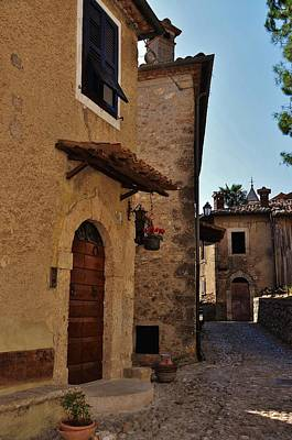Photograph - Narrow Street In Italian Village by Dany Lison