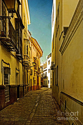 Narrow Street In Seville Art Print by Mary Machare