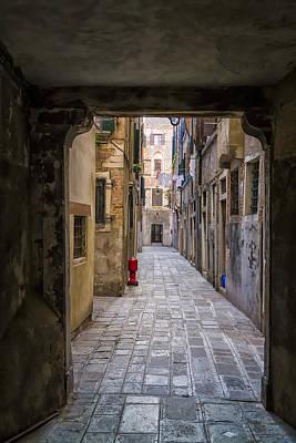 Narrow Street In Venice Art Print by Francesco Rizzato