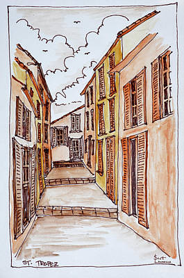 Narrow Streets In The Small Town Art Print