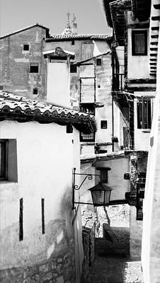 Photograph - Narrow Streets Of Albarracin  Black And White by Weston Westmoreland