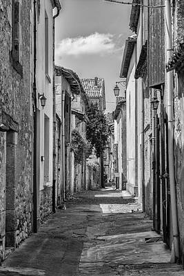 Narrow Streets Of Eymet Art Print by Georgia Fowler
