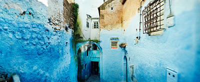 Chefchaouen Photograph - Narrow Streets Of The Medina Are All by Panoramic Images