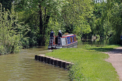 Photograph - Narrowboat On Oxford Canal by Tony Murtagh