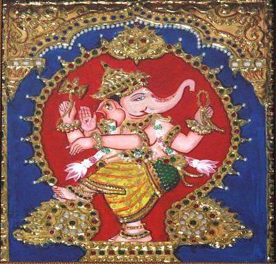 Painting - Narthana Ganapathi by Jayashree