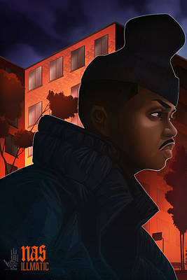 Digital Art - Nas Illmatic by Nelson  Dedos Garcia