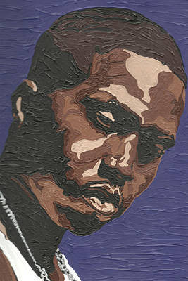 Art Print featuring the painting Nas by Rachel Natalie Rawlins