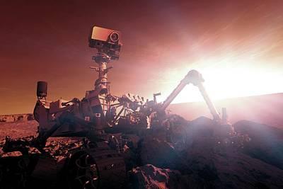 Nasa Curiosity Mars Rover Art Print