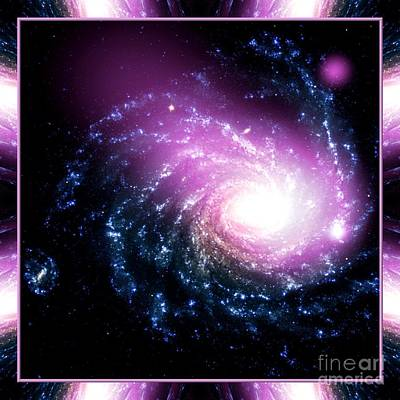 Photograph - Nasa Dwarf Galaxy Hitting A Spiral Galaxy by Rose Santuci-Sofranko
