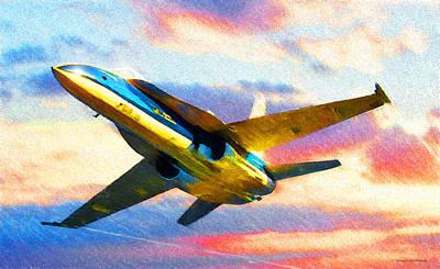 Digital Art - Nasa F-18 Hornet by Douglas Castleman