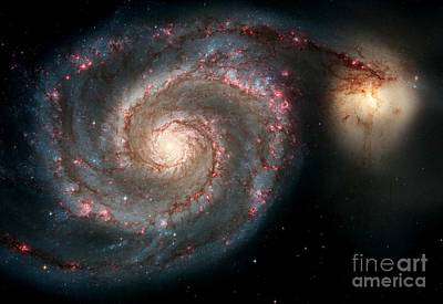 Photograph - Nasa Galaxies In A Tug Of War by Rose Santuci-Sofranko