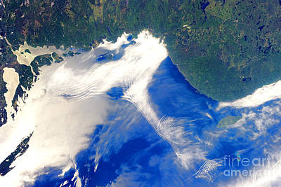 Photograph - Nasa Gravity Waves And Sunglint On Lake Superior by Rose Santuci-Sofranko