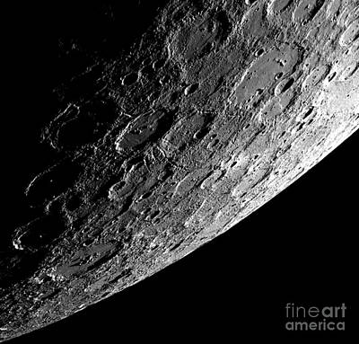 Photograph - Nasa Sunlit Side Of The Planet Mercury by Rose Santuci-Sofranko