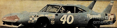 Old Car Drawing - Nascar 1970 by Pablo Franchi