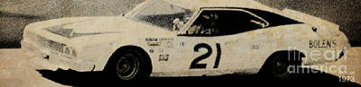 Old Car Drawing - Nascar 1973 by Pablo Franchi