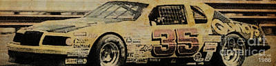 Drawings Royalty Free Images - Nascar 1986 Royalty-Free Image by Drawspots Illustrations