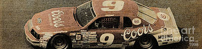 Drawings Royalty Free Images - Nascar 1998 Royalty-Free Image by Drawspots Illustrations