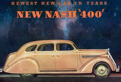 Nash 400 - Vintage Car Poster Art Print by World Art Prints And Designs