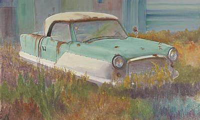 Nash Metropolitan Wall Art - Painting - Nash In The Grass by Carol Thompson