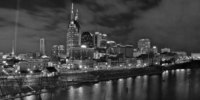 Nashville At Night Art Print by Frozen in Time Fine Art Photography