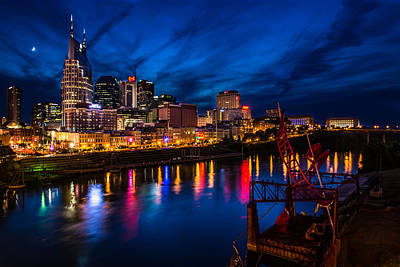 Photograph - Nashville At Night by Randy Scherkenbach