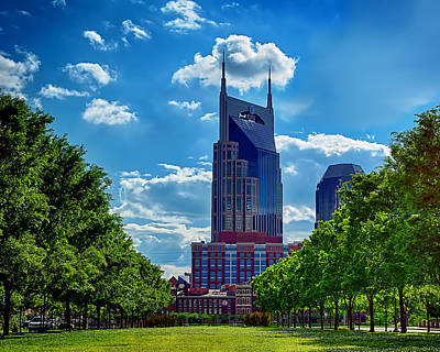 Nashville Batman Building Landscape Art Print by Dan Holland