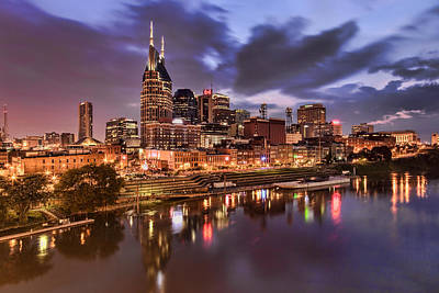 Catch Of The Day - Nashville Cityscape by Diana Powell