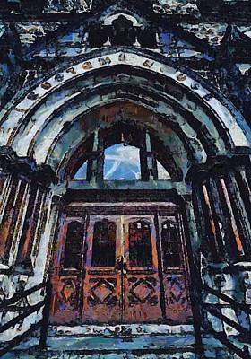 Nashville Architecture Painting - Nashville Custom House Entrance by Dan Sproul