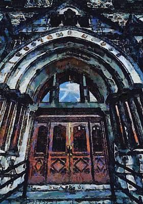 Nashville Building Painting - Nashville Custom House Entrance by Dan Sproul