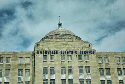Downtown Nashville Photograph - Nashville Electric Service Building by Jai Johnson