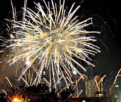 Ally Photograph - Nashville Fireworks 2014 by Ally  White
