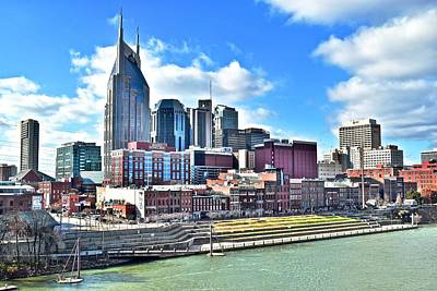 Street Hockey Photograph - Nashville From Above by Frozen in Time Fine Art Photography