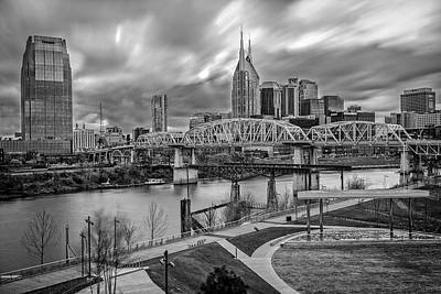 Nashville Frozen In Time Art Print by Brett Engle