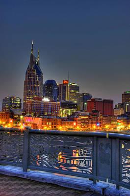 Nashville Glow Art Print by Zachary Cox