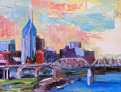 Buildings In Nashville Painting - Nashville In Pastel by Wendi Strauch Mahoney