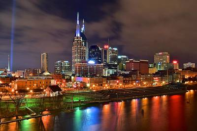Batman Building Photograph - Nashville Is A Colorful Town by Frozen in Time Fine Art Photography